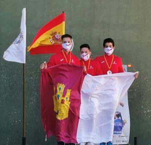 Los alcarreños Juan Pastor Vilar y Marcos Domínguez Pérez, subcampeones de España de Frontenis Preolímpico en categoría sub-18
