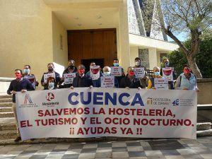 El sector hostelero de Cuenca muestra su total desacuerdo con el cierre y exige ayuda en esta situación