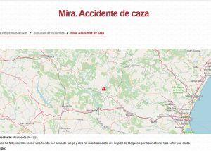 Fallece un hombre de 55 años de un disparo mientras cazaba en Mira