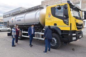 La Diputación de Cuenca invierte 150.000 euros en la adquisición de un camión cisterna para atender las urgencias de los municipios