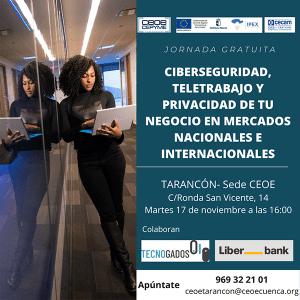 La sede de CEOE-Cepyme Tarancón acoge este martes una jornada sobre ciberseguridad en mercados internacionales