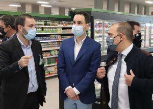 Salinas felicita a Mercadona en la apertura de su nuevo supermercado de Cabanillas