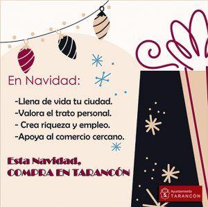 El Ayuntamiento de Tarancón pone en marcha una campaña de apoyo al comercio local de cara a las compras navideñas
