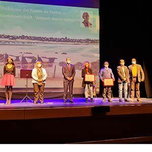 Entregado del prestigioso Premio de Teatro Ciudad de Guadalajara 'Antonio Buero Vallejo' de las ediciones XXXV y XXXVI