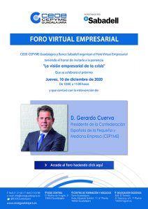 Gerardo Cuerva, presidente de Cepyme, protagonista del próximo foro empresarial de CEOE-Cepyme Guadalajara