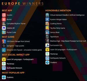 Huawei anuncia los ganadores de AppsUP, su concurso de innovación de aplicaciones a nivel global
