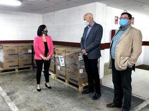 La Subdelegación del Gobierno en Cuenca vuelve a repartir 52.000 mascarillas quirúrgicas