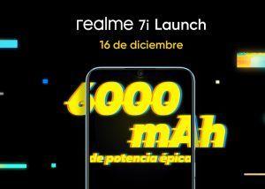 Realme 7i llega a España el 16 de diciembre con una gran batería de 6000 mAh