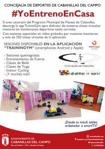 El Ayuntamiento de Cabanillas recuerda a los usuarios del Programa Municipal de Fitness la opción de sus clases virtuales