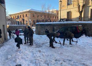 El Ejército finalmente sí actuará contra la nieve y el hielo en Guadalajara, Cabanillas y Albalate