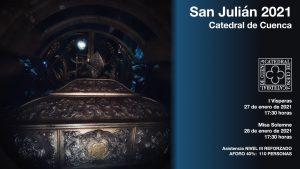 La Catedral de Cuenca acogerá el día de san Julián una misa a las 1730 horas con aforo limitado a 110 personas