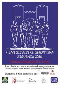 La San Silvestre virtual seguntina recauda 2.000 euros para Cáritas y para la AECC