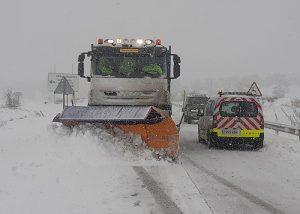 Las autoridades alertan sobre el riesgo de la presencia de hielo en las carreteras y piden que se extreme la prudencia en caso de tener que desplazarse