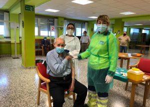 Los residentes y trabajadores de la Residencia Provincial de Cuenca ya han recibido la primera dosis de la vacuna frente al Covid