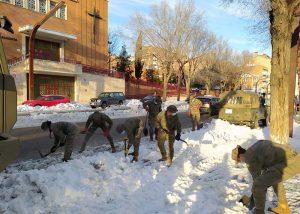 Nueva fase del operativo contra los efectos de 'Filomena' seis días después de la nevada 9 máquinas comenzarán a retirar nieve acumulada al despejar calzadas y aceras