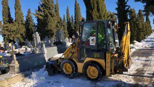 Reabierto el cementerio de Tarancón tras las actuaciones realizadas por las consecuencias del temporal
