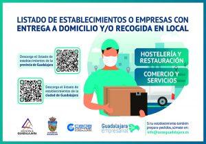 Un total de 179 establecimientos de la capital y 134 de la provincia de Guadalajara ya realizan pedidos por encargo o a domicilio