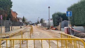 El Ayuntamiento de Cabanillas encara la recta final de las obras de renovación de colectores en la zona baja del municipio