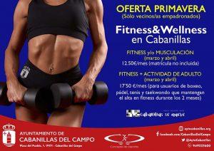 El Ayuntamiento de Cabanillas rebaja los precios del Programa Municipal de Fitness para los meses de marzo y abril