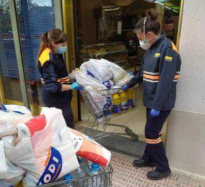 El Ayuntamiento de Tarancón continua con el proyecto ´Compras a domicilio´ en colaboración con Protección Civil y Supermercados CODI