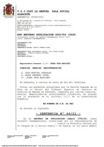El TSJCM ratifica la nulidad del despido de un trabajador de Cuenca afiliado a CCOO por vulneración de derechos fundamentales