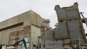 La demolición del muro del Edificio de Contención de Zorita a punto de finalizar