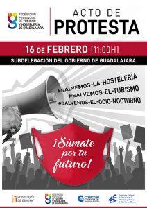 La Federación de Turismo y Hostelería de Guadalajara se concentrará ante la situación insostenible que atraviesa el sector