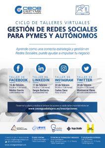 Nuevo ciclo de talleres virtuales sobre gestión de redes sociales para pymes y autónomos de CEOE-Cepyme Guadalajara