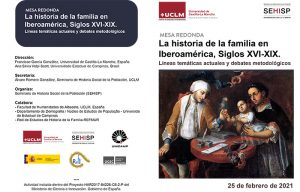 El Seminario de Historia Social de la Población analizará la familia iberoamericana en los siglos XVI-XIX