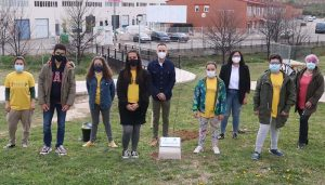 Cabanillas se suma a la iniciativa «Un árbol por Europa», plantando un olmo en el Centro Joven