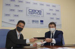 CEOE-Cepyme Cuenca y ECCODIEZ firman un convenio que permitirá potenciar las campañas publicitarias