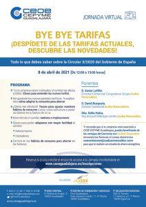 CEOE-Cepyme Guadalajara organiza un webinar donde desvelará las claves de las nuevas tarifas de luz y cómo las empresas pueden ahorrar en sus costes energéticos