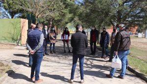 Comienza el replanteo de las obras del Centro Fitness Municipal de Cabanillas