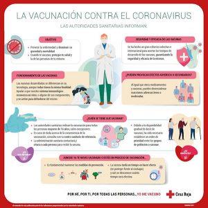 Cruz Roja promueve una campaña de información sobre la vacunación contra el coronavirus