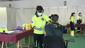 El área de Salud de Cuenca desarrolla la vacunación frente a la Covid-19 de las Fuerzas y Cuerpos de Seguridad del Estado