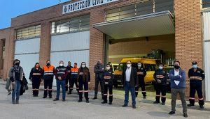 El Gobierno regional entrega nuevos equipos de uniformidad a la Agrupación de Protección Civil de Tarancón