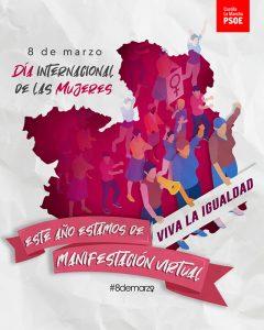 El PSOE de CLM lanza una campaña virtual para que el espíritu del 8-M viva en las redes sociales