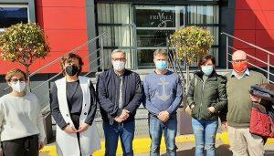 El secretario general de CCOO-Industria CLM y la secretaria general de CCOO-Cuenca visitan las instalaciones de la cárnica Frivall en Villar de Olalla