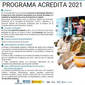 La patronal conquense informa sobre Acredita 2021 a través del proyecto de asesoramiento de formación profesional