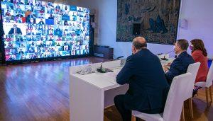"""Page valora el diálogo y la voluntad de pacto para gobernar en Castilla-La Mancha con """"perspectiva y estabilidad"""""""