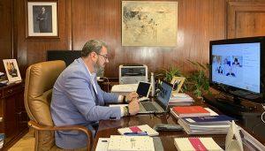 Robles se reúne con la Confederación Hidrográfica del Ebro para tratar cuestiones en torno a los cauces y planes de depuración