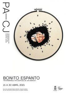 El bordado artesano llevado al terreno artístico protagoniza la exposición de Pequeño Espanto que acoge el Centro Joven de Cuenca
