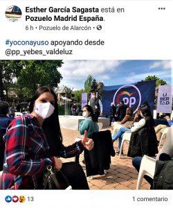 El PSOE denuncia que la portavoz del PP de Yebes se salta el cierre perimetral para acudir a dos mítines en Tres Cantos y Pozuelo de Alarcón