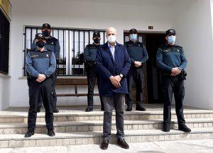 El subdelegado del Gobierno en Cuenca termina en el puesto de la Guardia Civil de Horcajo de Santiago su visita por todos los acuartelamientos de la provincia