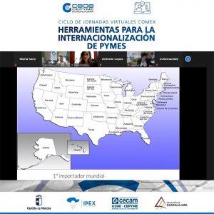Finaliza el ciclo de Jornadas de Comercio Exterior de CEOE-Cepyme Guadalajara abordo los incoterms, vender en EEUU  y las plataformas B2b