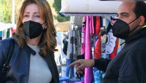 Fuentes denuncia el mal estado del recinto del mercadillo y pide mayor organización y control