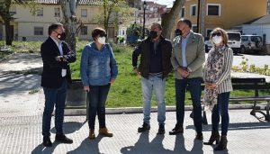 Gracia Canales se interesa por los daños de Filomena en Tarancón y la celeridad con la que el consistorio arregla los desperfectos