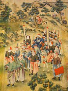 Guadalajara destaca en abril el simbolismo en la indumentaria china de la dinastía Qing reflejada en la decoración del Palacio de la Cotilla
