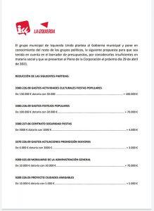 IU Azuqueca le hace una propuesta al proyecto de presupuestos que plantea el Gobierno de José Luis Blanco