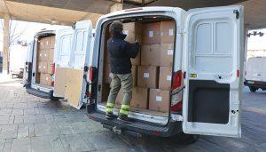 La Junta ha distribuido más de medio millón de artículos de protección para profesionales sanitarios en las dos últimas semanas